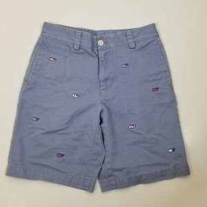 Vineyard Vines Boys Short Embroidered Whale size 8